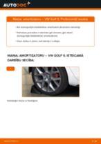 Kā nomainīt: aizmugures amortizatoru VW Golf 6 - nomaiņas ceļvedis