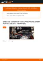 ABARTH 500 / 595 Varikliukas, priekinio stiklo valytuvai keitimas: nemokamas pdf