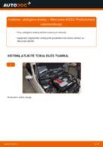 Kaip pakeisti ir sureguliuoti Ašies montavimas MERCEDES-BENZ C-CLASS: pdf pamokomis