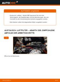 Wie der Wechsel durchführt wird: Luftfilter 1.4 (312.AXD1A) Abarth 595 tauschen