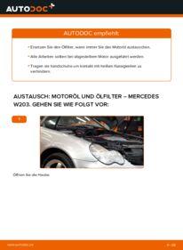 Wie der Wechsel durchführt wird: Ölfilter C 220 CDI 2.2 (203.006) Mercedes W203 tauschen