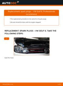 How to carry out replacement: Spark Plug on 1.6 TDI Golf Mk6