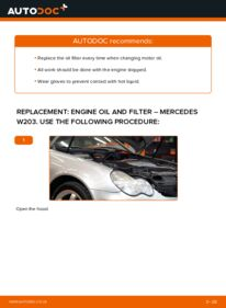 How to carry out replacement: Oil Filter on C 220 CDI 2.2 (203.006) Mercedes W203
