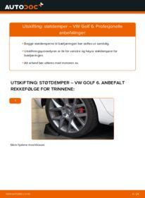 Slik bytter du Støtdemper på VW GOLF