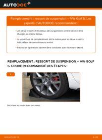 Comment effectuer un remplacement de Ressort d'Amortisseur sur 1.6 TDI VW Golf VI