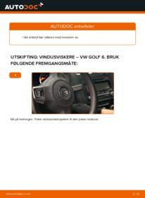 Slik bytter du Vindusviskere på VW GOLF