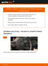 Kaip atlikti keitimą: 1.6 TDI Golf 6 Valytuvo gumelė