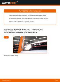 Kaip atlikti keitimą: 1.6 TDI Golf 6 Alyvos filtras