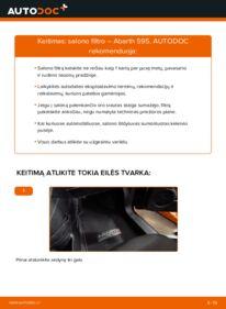 Kaip atlikti keitimą: 1.4 (312.AXD1A) Abarth 595 Oro filtras, keleivio vieta