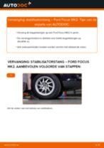Hoe stabilisatorstang vooraan vervangen bij een Ford Focus MK2 – vervangingshandleiding