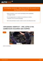 Hoe veerpoot vooraan vervangen bij een Opel Astra G F48 – Leidraad voor bij het vervangen