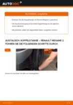 RENAULT MEGANE II Saloon (LM0/1_) Stabilisatorstrebe: Tutorial zum eigenständigen Ersetzen online