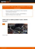 PDF manuel de remplacement: Filtre à air RENAULT MEGANE II A trois volumes (LM0/1_)