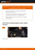 PDF manuel de remplacement: Amortisseur RENAULT MEGANE II A trois volumes (LM0/1_) arrière + avant