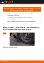 PDF manuel de remplacement: Amortisseur RENAULT KANGOO (KC0/1_) arrière + avant