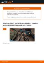 PDF manuel de remplacement: Filtre à air RENAULT KANGOO (KC0/1_)