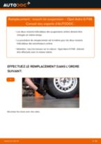 Comment changer : ressort de suspension arrière sur Opel Astra G F48 - Guide de remplacement