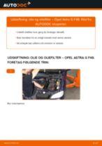 Udskift motorolie og filter - Opel Astra G F48 | Brugeranvisning