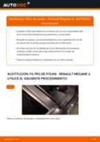 Instalación Filtro de aire acondicionado RENAULT MEGANE II Saloon (LM0/1_) - tutorial paso a paso