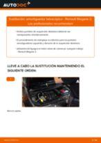 Cómo cambiar y ajustar Amortiguador RENAULT MEGANE: tutorial pdf