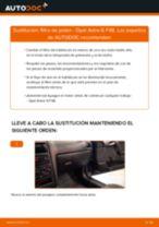 Cómo cambiar: filtro de polen - Opel Astra G F48 | Guía de sustitución
