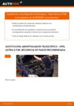Cómo cambiar: amortiguador telescópico de la parte delantera - Opel Astra G F48 | Guía de sustitución