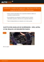 Cómo cambiar: muelles de suspensión de la parte delantera - Opel Astra G F48 | Guía de sustitución