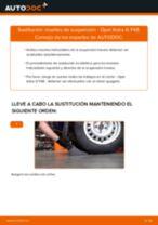 Cómo cambiar: muelles de suspensión de la parte trasera - Opel Astra G F48 | Guía de sustitución