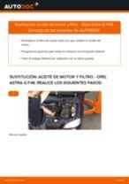 Cambiar Filtro de Aceite OPEL ASTRA: manual de taller
