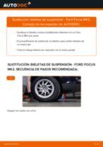 Cómo cambiar: bieletas de suspensión de la parte delantera - Ford Focus MK2 | Guía de sustitución