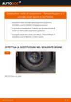 Come cambiare molle di sospensione della parte posteriore su Renault Megane 2 - Guida alla sostituzione