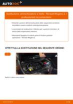 Come cambiare ammortizzatore a molla della parte anteriore su Renault Megane 2 - Guida alla sostituzione