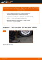 Come cambiare ammortizzatori della parte posteriore su Opel Astra G F48 - Guida alla sostituzione