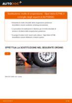 Come cambiare molle di sospensione della parte posteriore su Opel Astra G F48 - Guida alla sostituzione