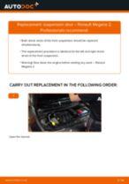 Replacing Struts RENAULT MEGANE: free pdf