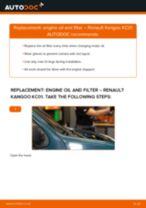 PDF replacement tutorial: Oil filter RENAULT KANGOO (KC0/1_)
