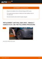 PDF replacement tutorial: Sway bar links RENAULT KANGOO (KC0/1_) rear and front