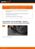 How to replace and adjust Shock absorbers RENAULT KANGOO: pdf tutorial
