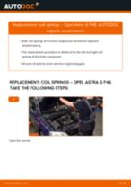 How to change front coil springs on Opel Astra G F48 – replacement guide