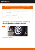 How to replace and adjust Shock absorbers FORD FOCUS: pdf tutorial
