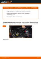 Skifte Fjærer RENAULT MEGANE: verkstedhåndbok