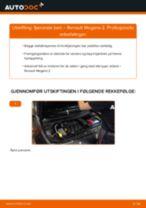 Skifte Støtdemper RENAULT MEGANE: verkstedhåndbok