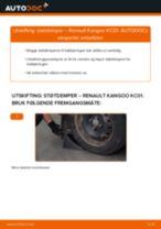 Hvordan bytte og justere Fjærbein RENAULT KANGOO: pdf håndbøker