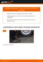 Veiledning på nettet for å skifte Fjærbein i OPEL ASTRA G Hatchback (F48_, F08_) selv