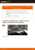 Hvordan bytte og justere Fjærbein FORD FOCUS: pdf håndbøker