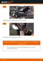 Kuinka vaihtaa pyyhkijänsulat eteen Renault Megane 2-autoon – vaihto-ohje