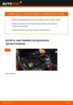 Kuinka vaihtaa jousi eteen Renault Megane 2-autoon – vaihto-ohje