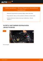 Kuinka vaihtaa joustintuki eteen Renault Megane 2-autoon – vaihto-ohje