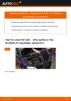 Kuinka vaihtaa joustintuki eteen Opel Astra G F48-autoon – vaihto-ohje
