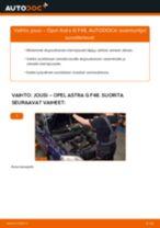 Kuinka vaihtaa jousi eteen Opel Astra G F48-autoon – vaihto-ohje